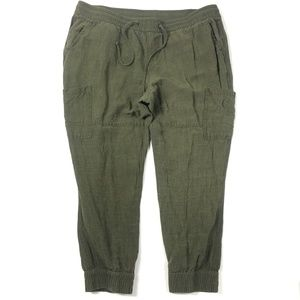 Old Navy Womens Cargo Jogger Pants Drawstring